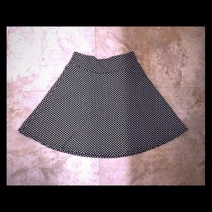 polka dot skater b/w skirt (wear high or low rise)